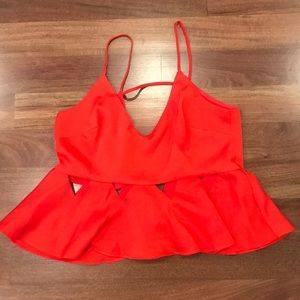 Topshop red cami